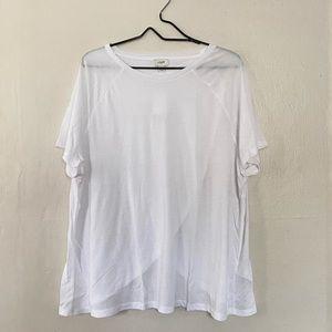 J Crew Factory White Flyaway Tee T Shirt 2X NWT